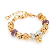 Crystal Heart Charm Bracelets & Bangles