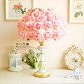 Романтическая спальня лампа настольная лампа прикроватная лампа моделирование роуз сад светильник украшения дома огни
