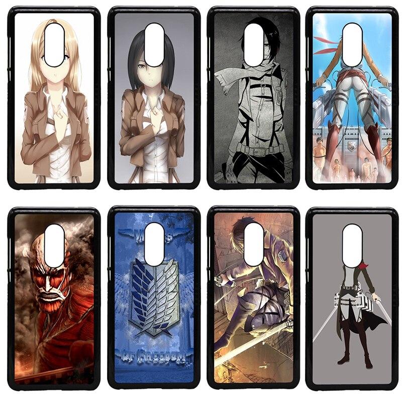 Anime Japanese attack on Titan Mobile Phone Cases Hard Cover for Xiaomi Redmi 3X Mi 6 5 5S Plus Note 4X 2 3 3S 4 Pro Prime Shell