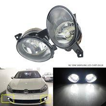 цена на ANGRONG 2 x Front Fog light Lamp W/ 30W SAMSUNG LED Bulbs L&R For VW Golf EOS Caddy Tiguan Jetta