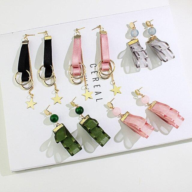 Купить женские асимметричные серьги wukaka длинные ручной работы с