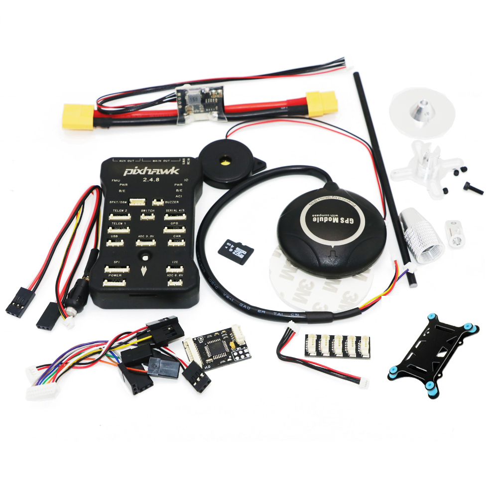 1set Pixhawk PIX PX4 2.4.8 Flight Controller M8N GPS Module with Built-in compass Micro SD Card adapter RC FPV pixhawk rgb usb module external led indicator for pix flight controller black