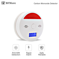 BFMore Sound And Light CO Sensor LCD Photoelectric Home Security Independent Carbon Monoxide Poisoning Alarm Detector