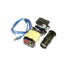 2.0MP USB Camera HD 3 in 1 Digital Industrial Microscope Video Camera Magnifier VGA USB AV TV Output 100X C-mount Lens
