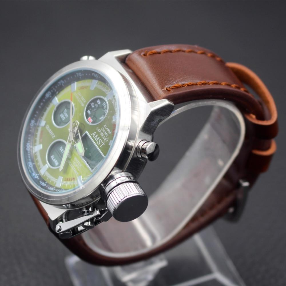 Uhren Mode Herrenuhr Amst 3003 Uhren Sport Dive 50 Mt Led Military Uhren Echte Quarz Digitaluhr Relogio Masculino Geschenke