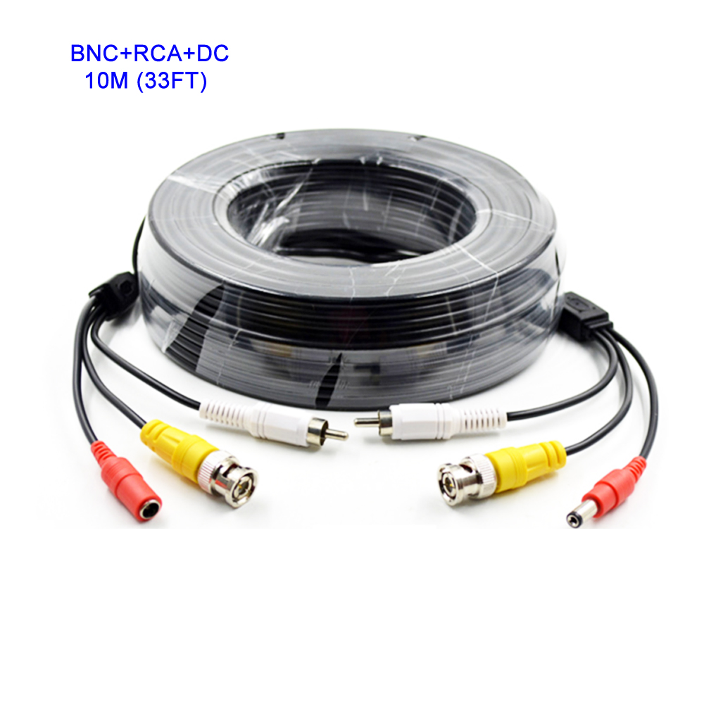 10M 33FT BNC Video Cable + RCA Audio Cable + DC Power Cable 3in1 Plug and Play for Security CCTV Analog AHD Camera DVR System car styling for honda city taillights 2009 2014 for city led tail lamp rear lamp drl brake park signal led lights
