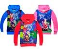 2016 наизнанку дети толстовки зимние толстовки Cartoo с длинным рукавом футболка девочка мальчик весна осень мода одежда criança