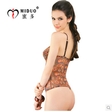 Free shipping Miduo very stretch mesh  one-piece G-string  sexy busty shaper babydolls corset erotic  lingerie 5510#W