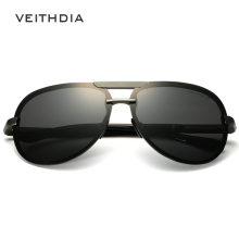 VEITHDIA Aluminum Magnesium Goggles Men's Sunglasses Polarized Lens Sun Glasses Driving/Fishing Male Eyewears shades For Men
