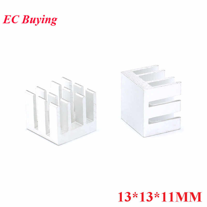 Disipador térmico radiador enfriador de aluminio de 13*13*11MM 5 uds./disipación de calor del tubo MOS para Chip LED 13X13X11MM