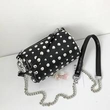 JUILE Women brand small round Bag designer shoulder bag fashion rivet Womens Messenger youth girl shopping wild Handbag
