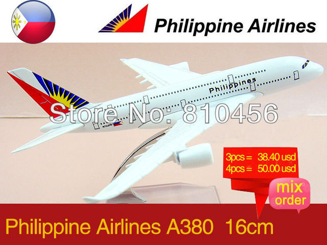 Free Shipping!Philippines Airline A380 16CM 1:400 scale dicast aircraft  airplane mockup plane model kit