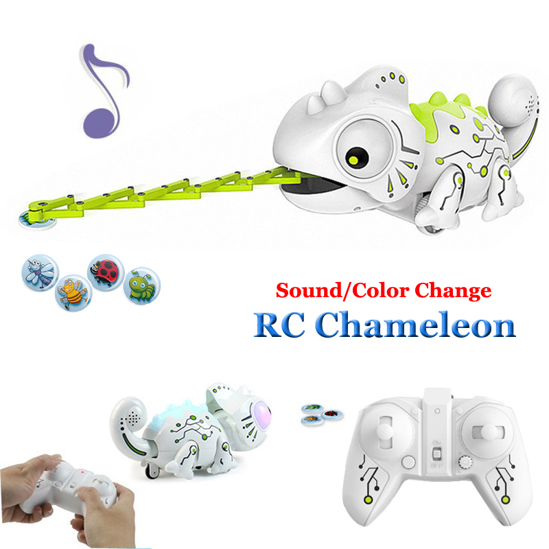 Remote Control Toy Chameleon 2.4G Food Catching Pet Intelligent Kids Toys For Children Birthday Gift Funny Robot Toy RC Animal