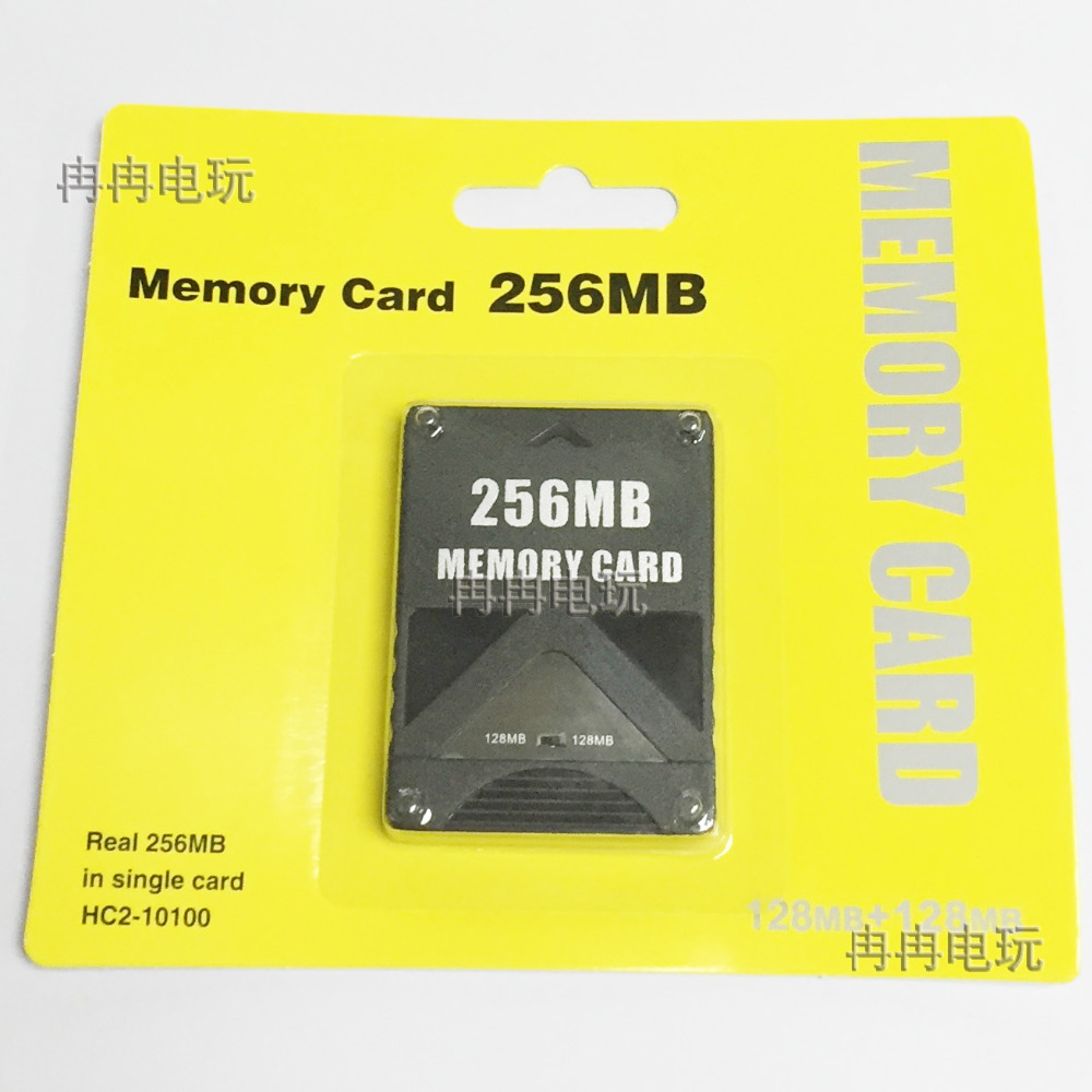 High quality 256M Game card for PS2 256MB memory card 100%Full Capacity High Speed free shipping ...