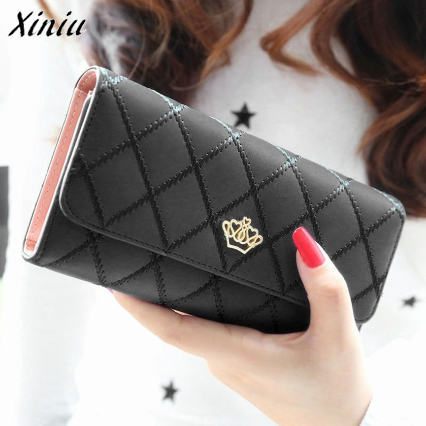Bolsas 2017 Money Clip Purses Lady Women Clutch Long Purse Leather Wallet Business Female Bags Men Wallets Carteira feminina 2016 famous brand new men business brown black clutch wallets bags male real leather high capacity long wallet purses handy bags