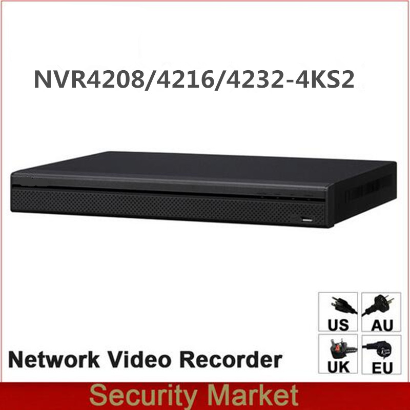 Original dahua English Version NVR NVR4216 4KS2 NVR4232 4KS2 NVR4208 4KS2 8 16 32 Channel 1U
