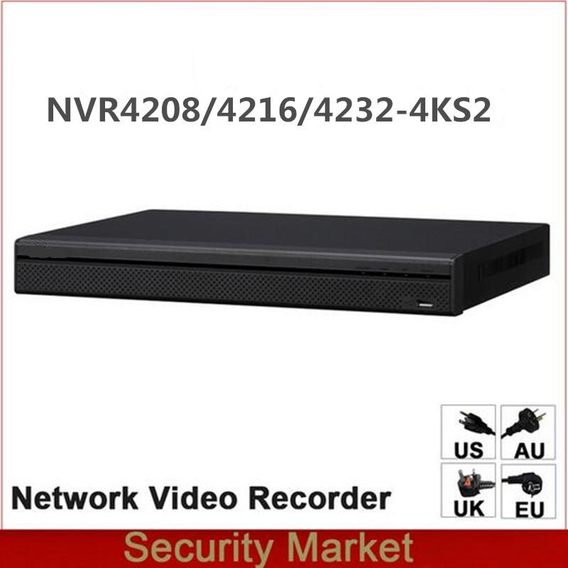 Original dahua English Version NVR NVR4216 4KS2 NVR4232 4KS2 NVR4208 4KS2 8 16 32 Channel 1U