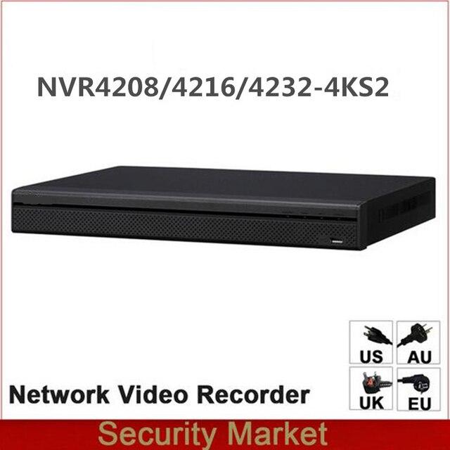 الأصلي داهوا الإنجليزية النسخة NVR NVR4216 4KS2 NVR4232 4KS2 NVR4208 4KS2 8/16/32 قناة 1U 4 كيلو و H.265 شبكة مسجل فيديو