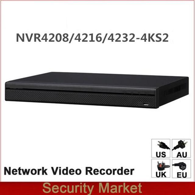 Original dahua English Version NVR NVR4216 4KS2 NVR4232 4KS2 NVR4208 4KS2 8/16/32 Channel 1U 4K&H.265 Network Video Recorder