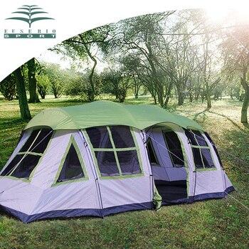 8 человек двухслойная наружная семья 1 зал 1 гостиная в форме домика команда кемпинг палатка в хорошем качестве и хорошая версия