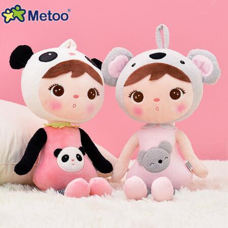 49cm  Kawaii Stuffed Plush Animals Cartoon Kids Toys For Girls Children Birthday Christmas Gift Keppel Panda Baby Metoo Doll