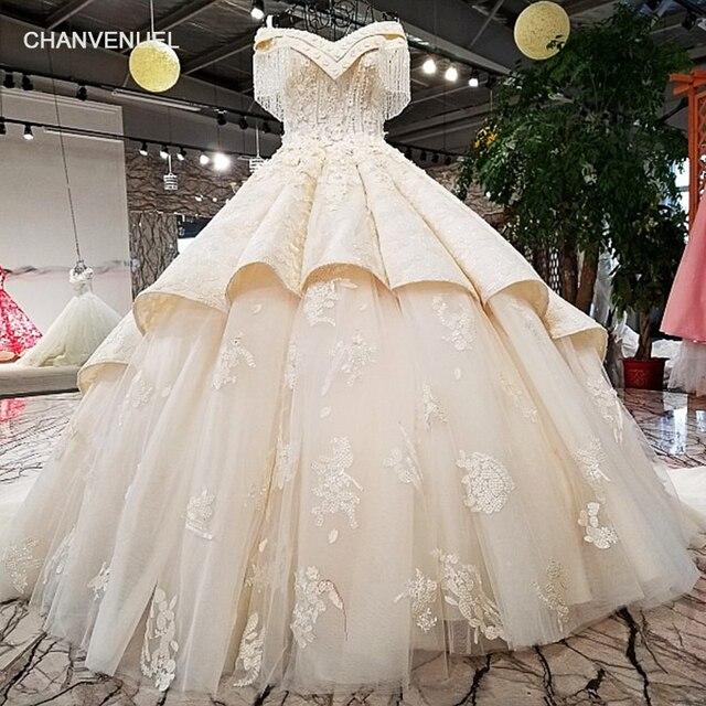 LS83214 elegant bride gown off shoulder sweetheart real lace up back ...