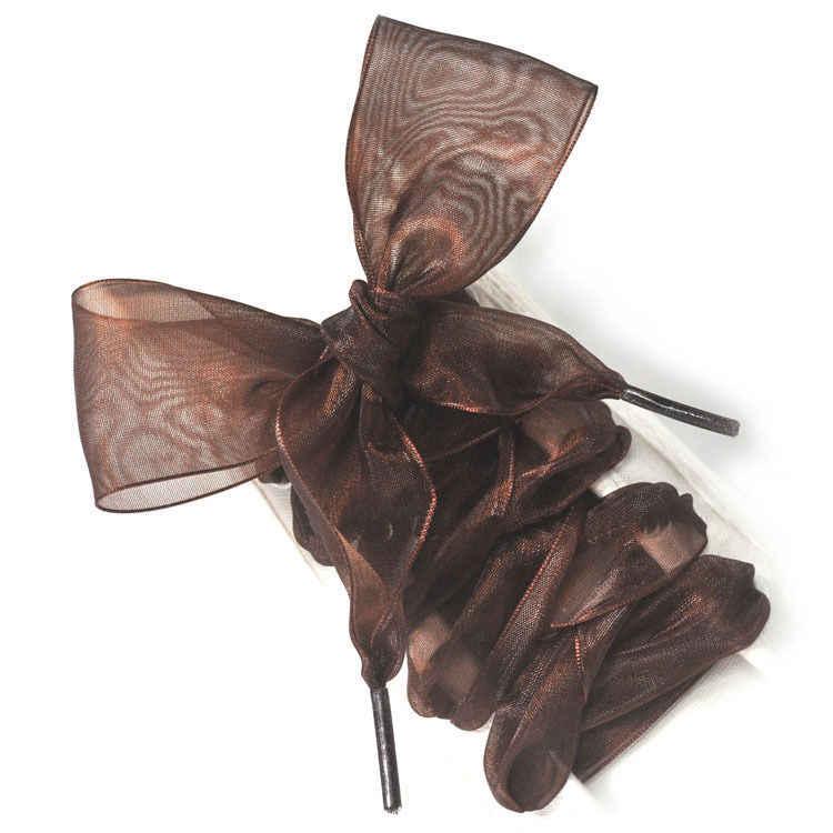 Fashion 110CM Flat Silk Ribbon Shoelaces Shoe Laces Sneaker Sport Shoes Lace One Pair Party DIY Decorations