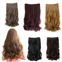 5 Clips In 70cm Women Ladies Long Curly Wavy On Hair Extensions Full Head Top