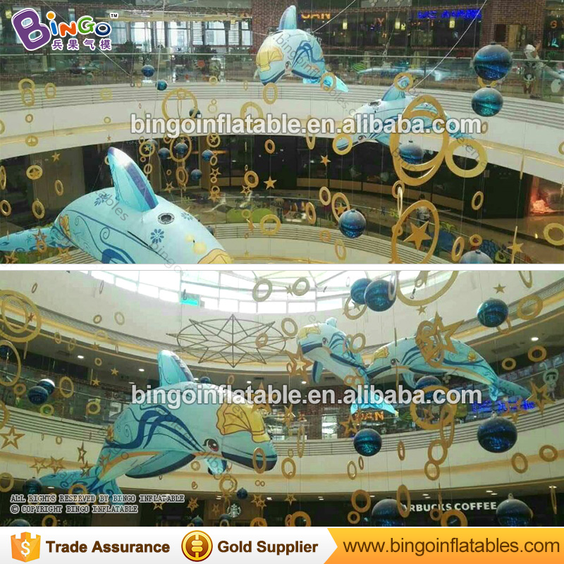 Customized size 3m inflatable dolphin model for advertisement / inflatable model advertisement / Inflatable advertising product inflatable coffee cup for advertisement