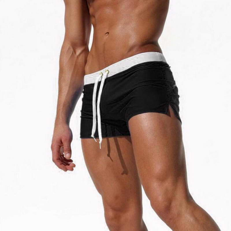 wholesale New Product Men Pure Color Swimwear Waterproof Quick Dry Beach Shorts 2019
