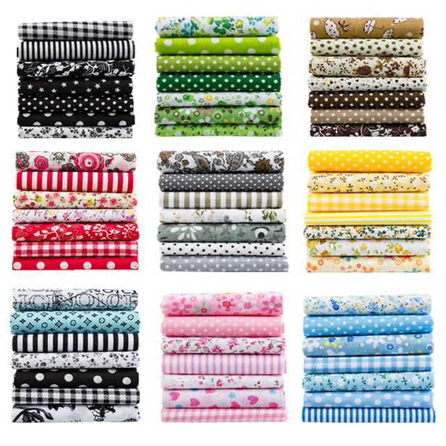 25x25 cm và 10x10 cm Bông Vải In Vải May Quilting Vải cho Chắp Vá May Vá TỰ LÀM phụ Kiện Handmade T7866