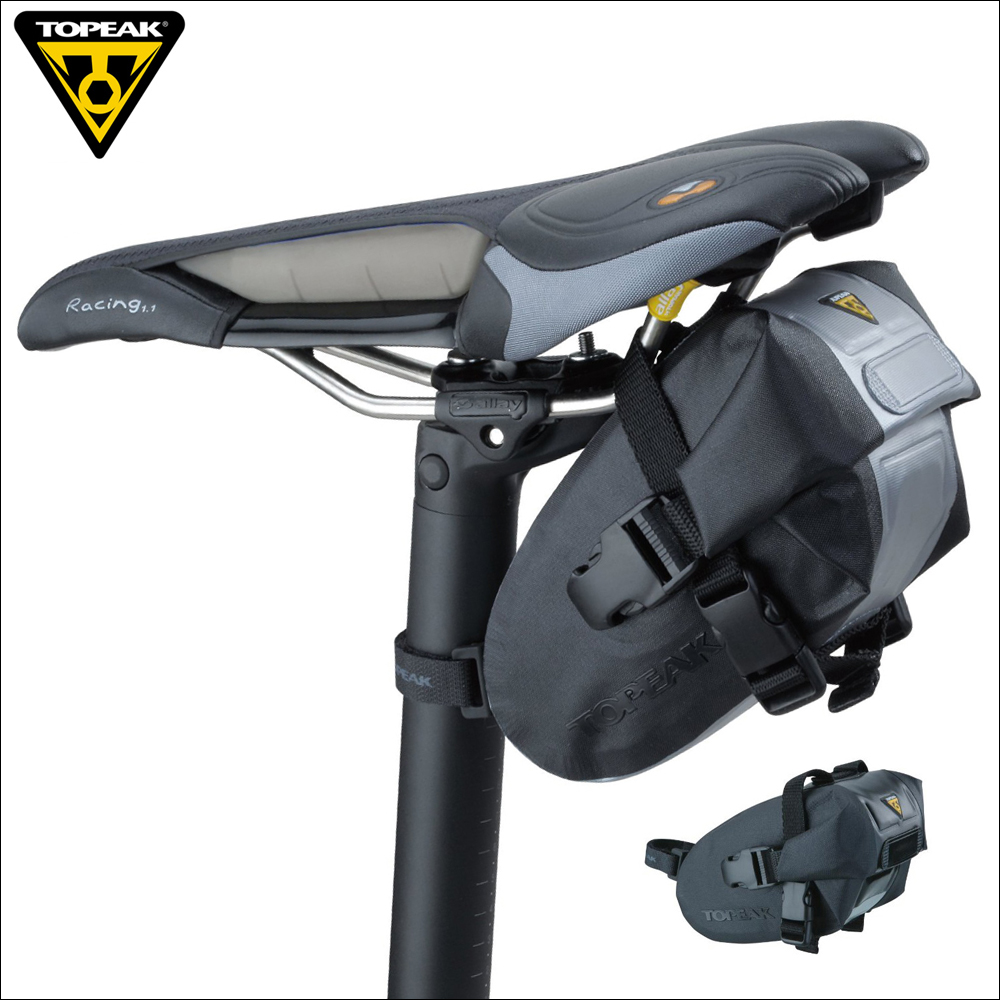 Topeak TT9817B 9818B 9819B Original Wedge DryBag Bicycle Seat Bag Magic Strap Quick Release Buckle Bike Pannier Saddle Tail Bag topeak dynawedge bike seatpost bag strap mount saddle bicycle rear bag ultralight bike repair tools pannier bag tc2293b