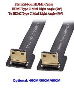 40 см/50 см/60 см FPV HDMI мягкий мини правый угол 90 градусов папа-папа правый угол 90 градусов лента FPC плоский ленточный кабель
