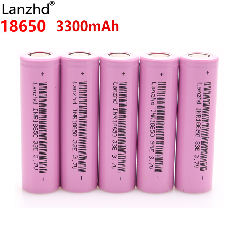 INR18650 30A Discharge Li Ion 18650 33E Rechargeable Batteries Li-ion 3.7v Lithium Batteries 3300mAh 18650 Battery E Cigarette