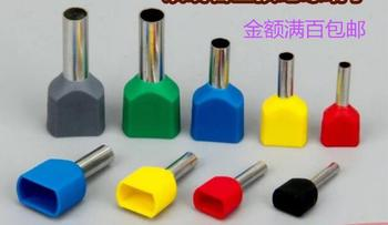TE1512 cold terminal Two - wire pre - insulated terminal block Tubular terminal pin terminal 1000pcs/lot фото