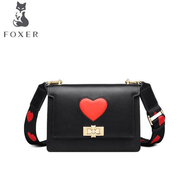 FOXER 2019 Novas mulheres bolsa De Couro bolsas de luxo da moda mulheres famou marca Simples pequeno saco Crossbody Saco de ombro das mulheres de couro