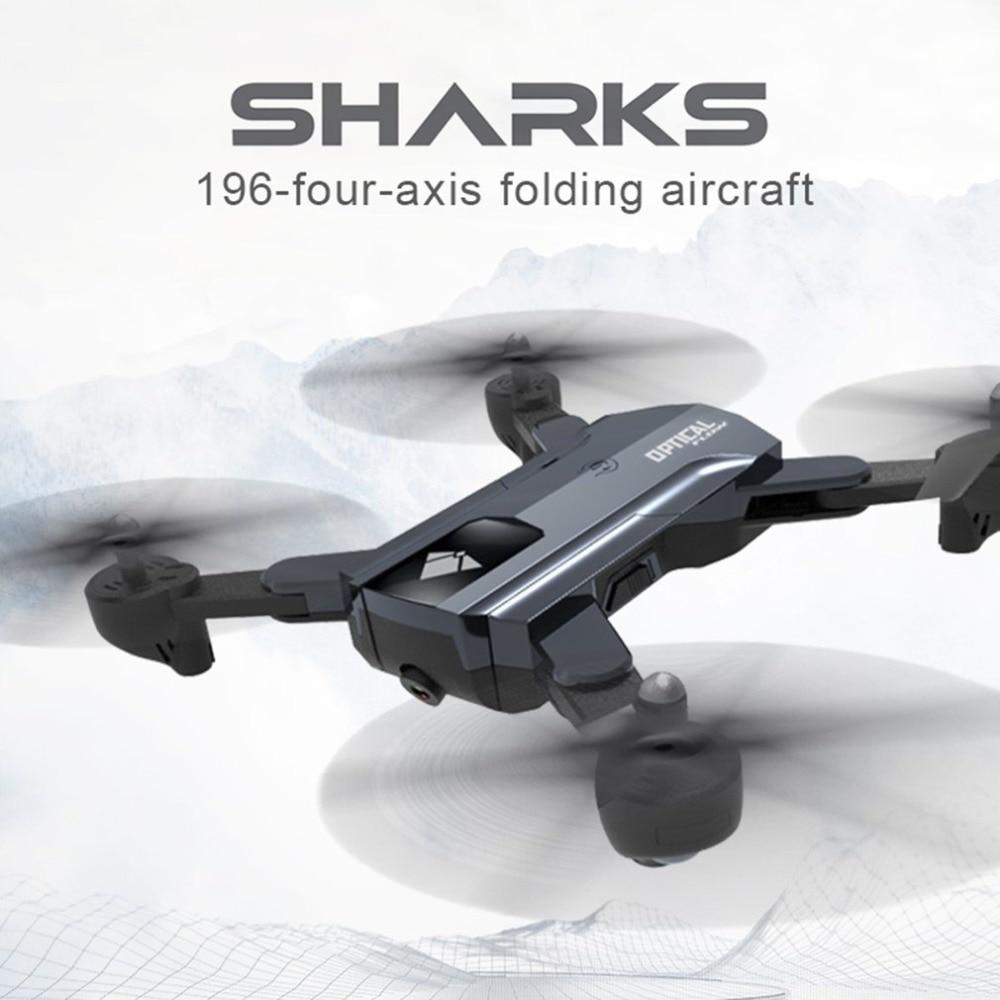 F196 Flux Optique Localisation Pliable quadrirotor Wi-Fi Drone rc avec 2.0MP HD CAMÉRA 2200 batterie mah sans Tête Mode Avion