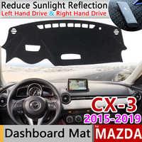 for Mazda CX-3 2015 2016 2017 2018 2019 Anti-Slip Mat Dashboard Cover Pad Sunshade Dashmat Protect Carpet Accessories CX3 CX 3