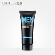 LAIKOU средство для мытья лица для мужчин, очищающее средство для лица, скрабы для лица, естественное умывание и очищающее средство для жирной кожи и акне