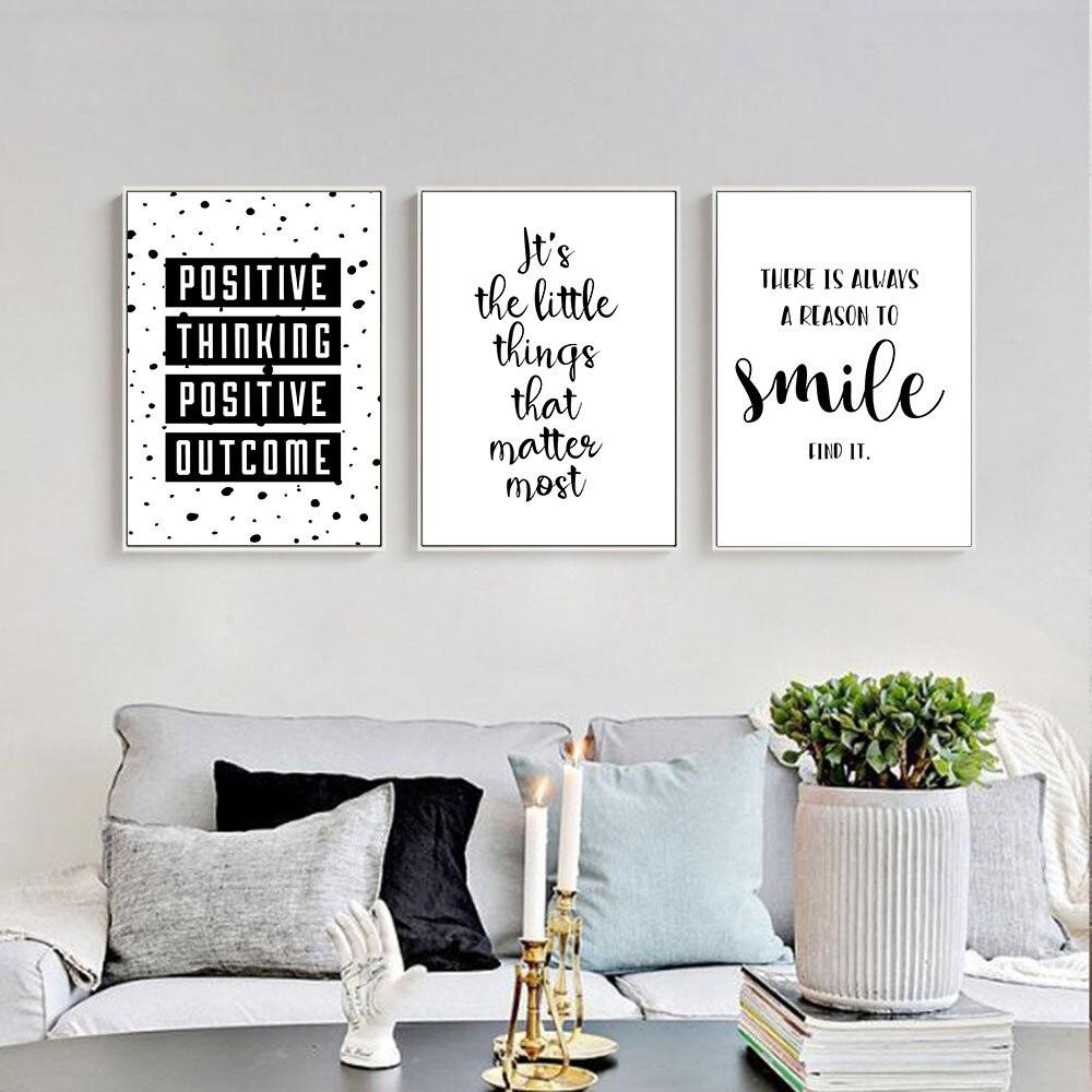 Zwart Wit Motivational Leven Citaat Canvas Posters Canvas Prints ...