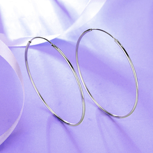 2018 New Genuine 925 Sterling Silver Small Big size Hoop Ear