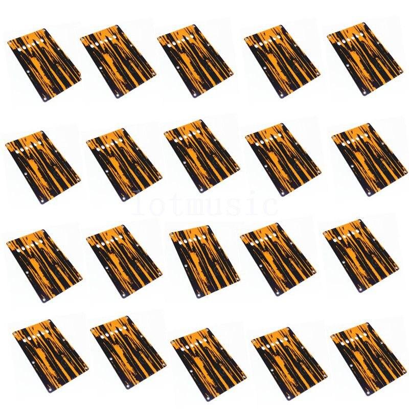 20 pièces 3Ply jaune et noir guitare Trem couverture plaque arrière pour Fender Strat guitare remplacement