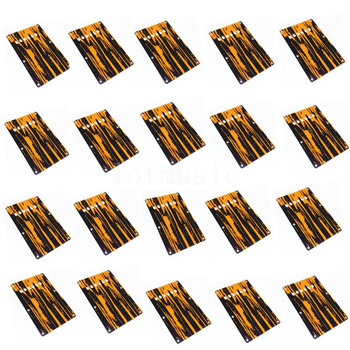 20Pcs 3Ply Yellow and Black Guitar Trem Cover Back Plate For Fender Strat Guitar Replacement