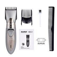 Aparador de cabelo e barba recarregável p49, máquina barbeadora e cortador de cabelo e barba para homens