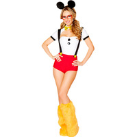 Miss Mouse Costume Sexy Ladies Cute Mouse Animal Costume Leg Warmers Naughty Girl Halloween Fancy Dress