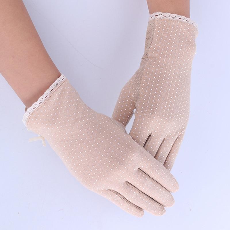 Summer/Autumn Women Sun Protection Non-slip Glove New Fashion Women's Driving Slip-resistant Sunscreen Golves Hot Sale