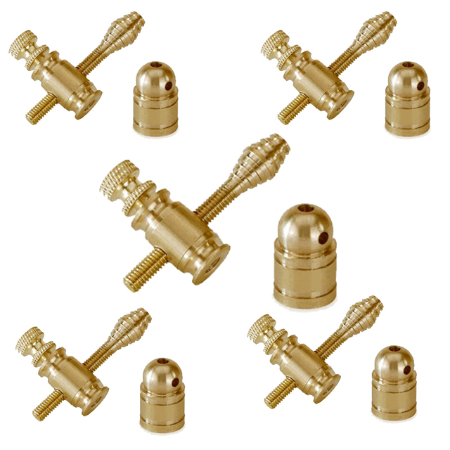 Tattoo Gun Parts Brass Jonesy Binding Post, Binder 5 Sets Custom Tattoo Machine Parts
