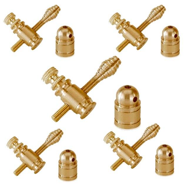 Piezas de pistola de tatuaje de latón, poste de encuadernación de Jones, carpeta 5 Juegos de piezas de máquina de tatuaje personalizado