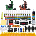 Solong Tattoo Complete Tattoo Kit 2 Power Pro Machine Guns 28 Inks Power Supply Foot Pedal Needles Grips Tips TK248