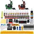Solong Tattoo Kit Tattoo Completa 2 Metralhadoras De Energia Pro 28 Tintas Poder Pé Abastecimento Pedal Agulhas Grips Dicas TK248